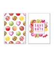 save date backgrounds with candies vector image vector image