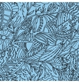 Seamless hand drawn pattern with leaves vector image vector image
