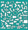 set arrows icons symbols vector image