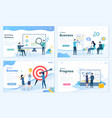 set business and office scenarios vector image vector image