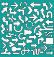 set of arrows icons symbols vector image vector image