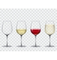 Set transparent wine glasses