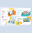set web page design templates for education vector image vector image