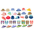set with cute and colorful summer accessories vector image vector image