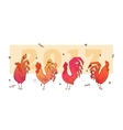 simple roosters new 2017 vector image vector image