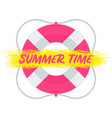 summer time lifebuoy vector image vector image