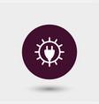 sun energy icon simple vector image