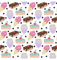 sweets patternpattern with cake vector image vector image