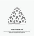 team build structure business meeting icon line vector image