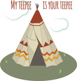 Teepee Home vector image vector image