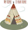 Teepee Home vector image