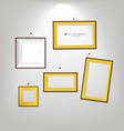 The modern frames on the wall vector image