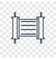 torah concept linear icon isolated on transparent vector image