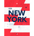 typography graphics color poster with a map vector image vector image