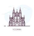 vienna line city vector image vector image