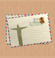 vintage style letters with statue jesus vector image vector image