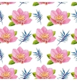 watercolor seamless pattern exotic flowers vector image