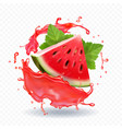 watermelon juice realistic vector image