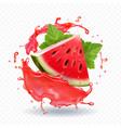 watermelon juice realistic vector image vector image