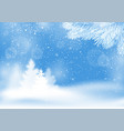 winter snowy landscape background vector image