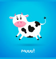 cartoon character cow vector image