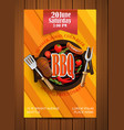 BBQ Grill flyer with elements vector image