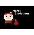 171016 1755 pixel christmas santa vector image vector image