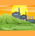 a factory in nature scene vector image
