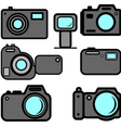 a set of digital cameras vector image vector image