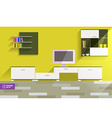 Abstract Flat Interior Desing vector image vector image