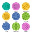 abstract symbols linear icons set vector image vector image