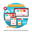 adaptive web development vector image vector image