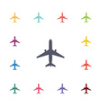 airplane flat icons set vector image vector image