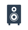audio speaker icon on white background vector image vector image