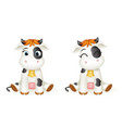 baby little cow 3d cute calf toy cub cartoon vector image