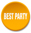 best party orange round flat isolated push button vector image vector image