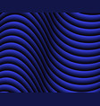 blue dark abstract wave background vector image