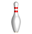 Bowling pin vector image