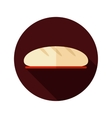 Bread flat icon with long shadow vector image