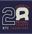 brooklyn national champions vector image vector image
