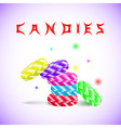 Candies in different colors vector image vector image