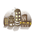 Cartoon Spooky Houses vector image