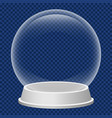 christmas snowglobe icon realistic style vector image vector image