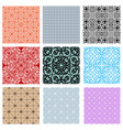 collection of lace patterns vector image
