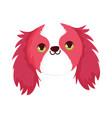 cute dog face little mascot cartoon character pets vector image vector image