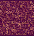 dark red seamless pattern with fall leaves vector image