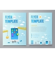 Design layout flyer Construction smartphone vector image vector image