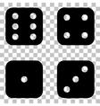 Devils bones Ivories sign Flat style black icon vector image vector image