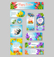 easter greeting cards tags banners set vector image vector image