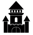 fantastic castel icon vector image vector image
